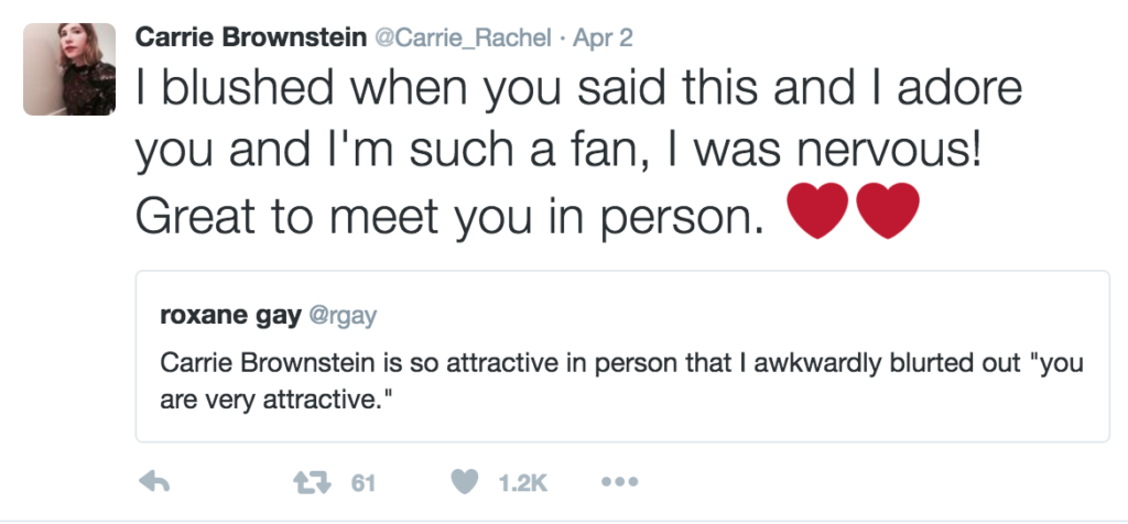 Carrie Brownstein and Roxane Gay tweet for the win