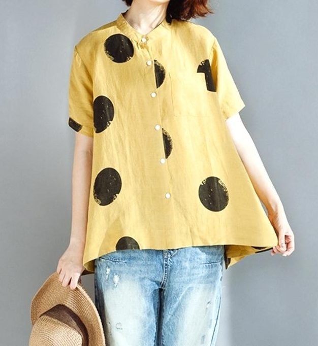 Catalog shot of polka dot top